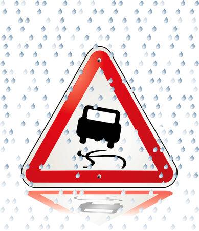 attention slip danger Stock Vector - 6513626