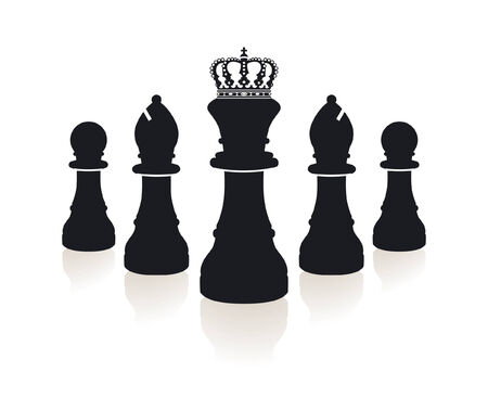 defeated:  chess piece