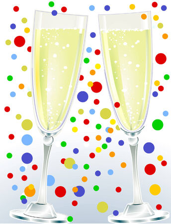 a couple of champagne Stock Vector - 6513623
