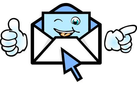 e-mail thank you  Vector