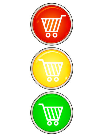 onlineshop: shopping cart  Illustration