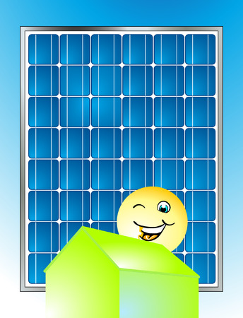 alternativ: solar power Illustration