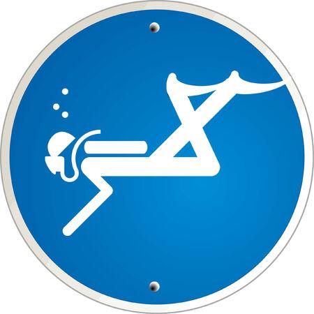 diver: diving vector