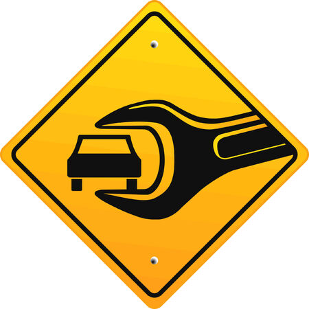 고치다: auto repair shop, sign  일러스트