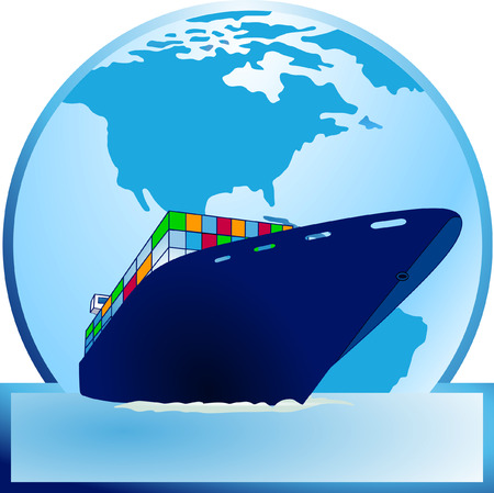 Container-ship  Stock Vector - 6513668