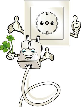 ecologically worthwhile electric current  Ilustracja