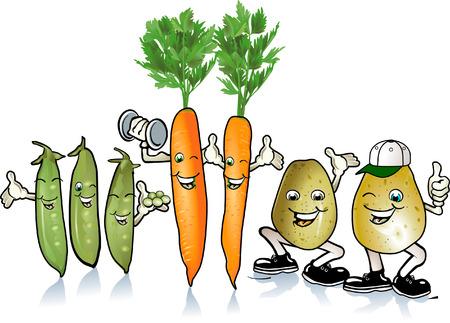 potato: Happy pea and root