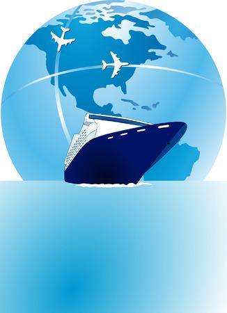 air travel:  sea passage and air travel