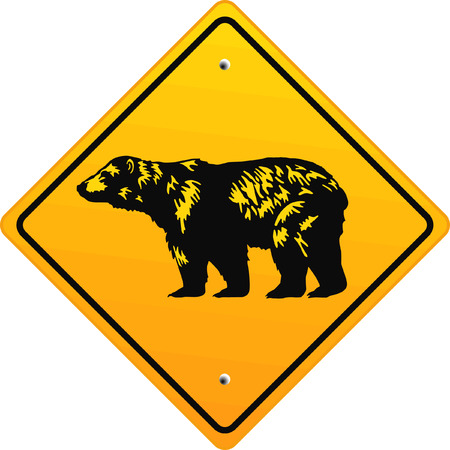 bear sign  Stock Vector - 6567323