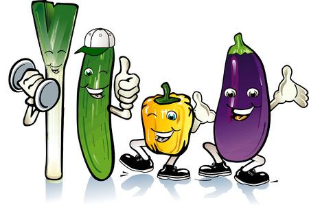aubergine: Freudig Gem�se  Illustration
