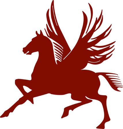 pegaso: Pegaso, el caballo volador  Vectores