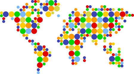world ball: world scores colored