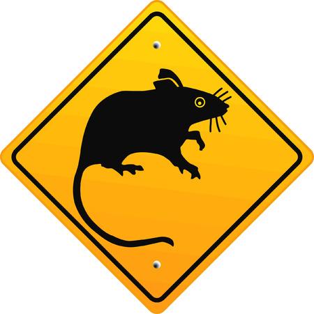 poison sign:  warning rat