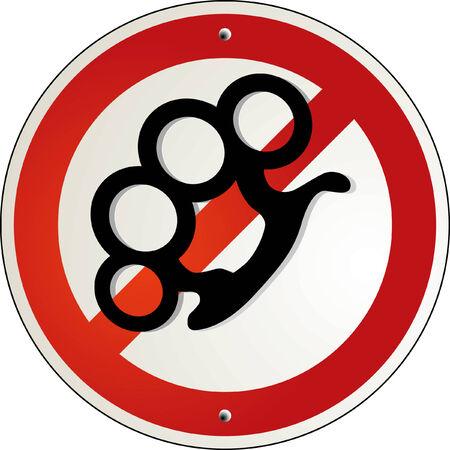 delincuencia: la fuerza de pu�os prohibido  Vectores