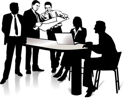 business discussion: reuni�n