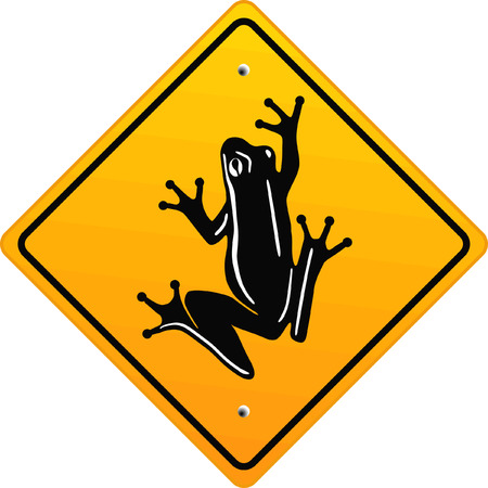 frog sign  Stock Vector - 6567501