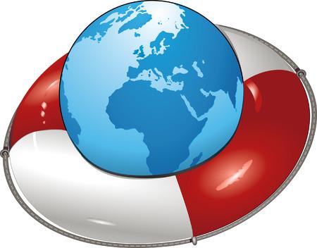 earth lifesaver Stock Vector - 6567504