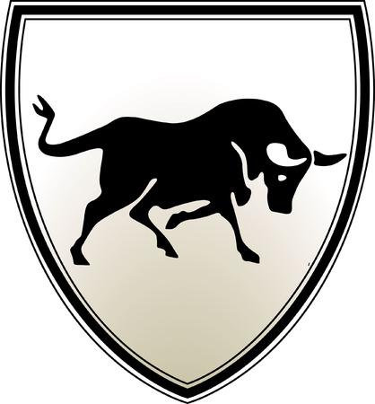 blazon: bull emblem