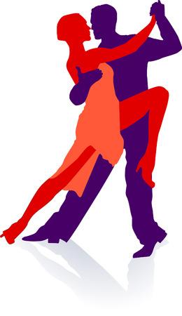 baile latino: Se necesitan dos al tango  Vectores
