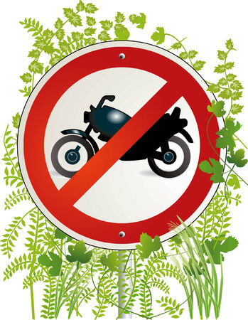 motorbike road sign Stock Vector - 6593959