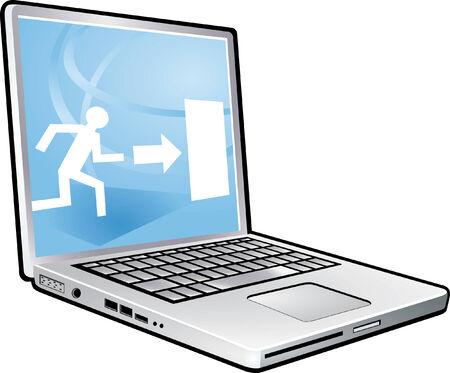 escape route: laptop escape way
