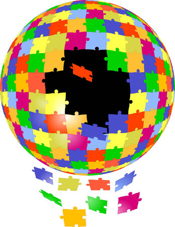 puzzle global  Stock Vector - 6594030