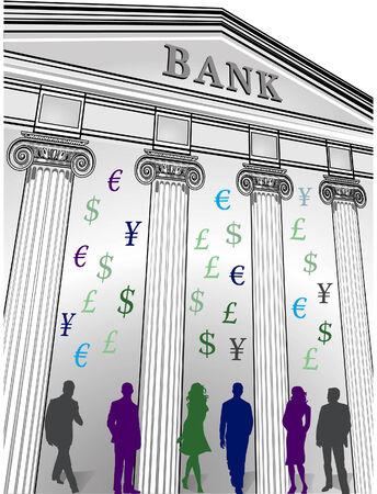 banking crisis Ilustração Vetorial
