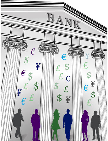 stockbroker: banking crisis  Illustration