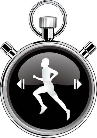 stop watch: runner stop watch  Illustration