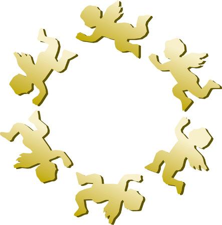 gold angel Stock Vector - 6594036