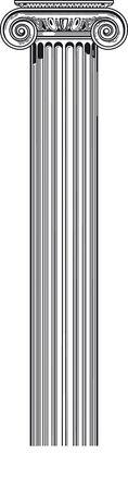 roman pillar:  ionic column
