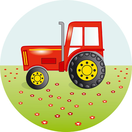 tractor in field: Tractor