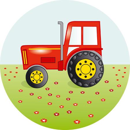 sugar cane farm: Tractor