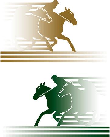 carreras de caballos Ilustración de vector