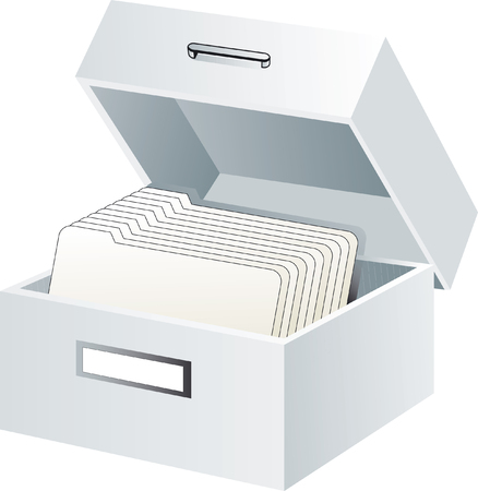 card file: office supplies
