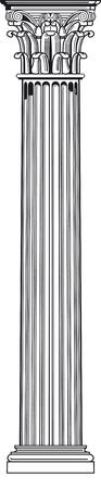 columna corintia: columna corintio