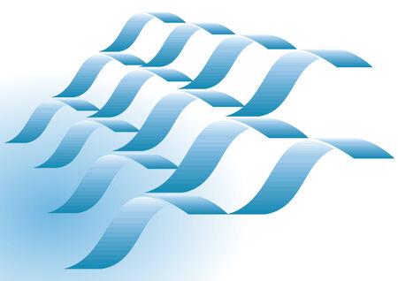blue wave Illusztráció