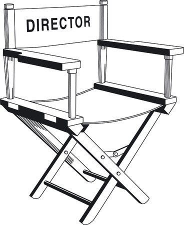 directeur: direction chair  Stock Illustratie
