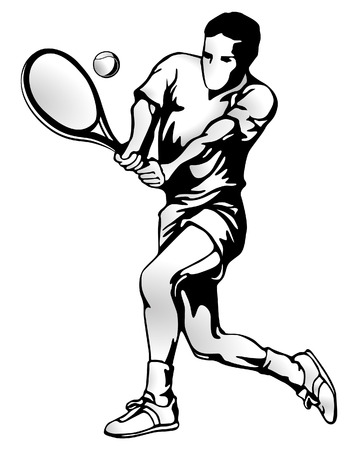 tennis serve: tennis player