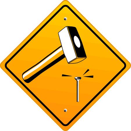 enveloping:  hammer  Illustration
