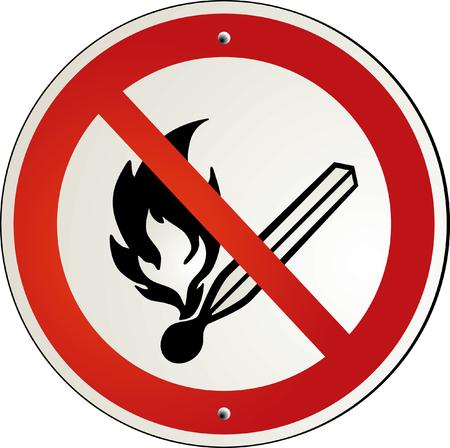indicative:  fire forbidde