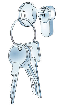 Lock and keys  Vector