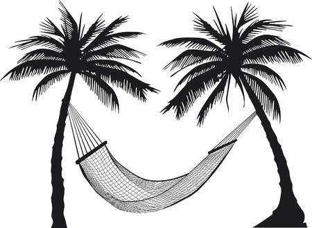 hamaca: Hamacas de palmera  Vectores
