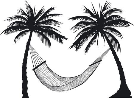 palm-tree  Hammock Stock Vector - 6630048