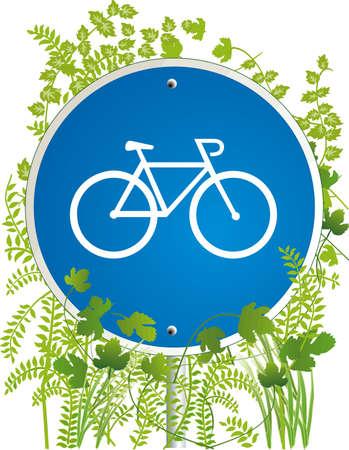 road bike: bicyclist road sign  Illustration