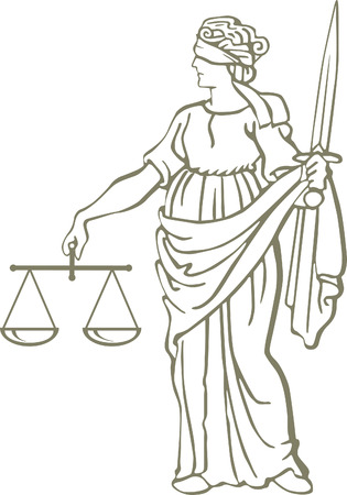legality:  justice law Illustration