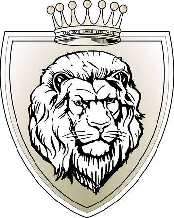 signet: lion sign Illustration