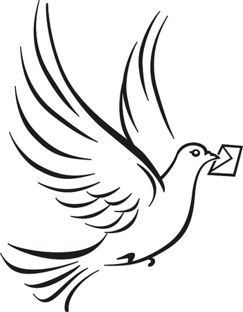 carrier pigeons  Vector