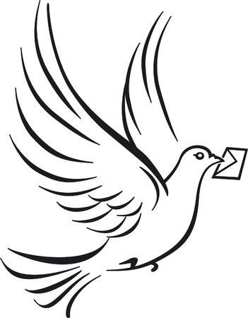 sending: palomas mensajeras  Vectores