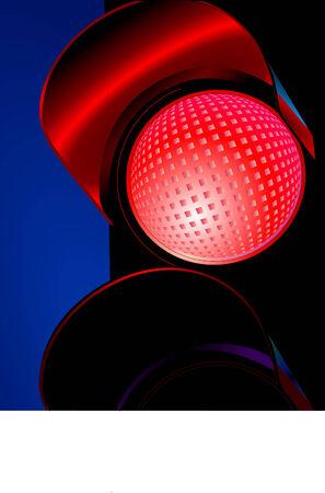 light signal:  traffic light  Illustration